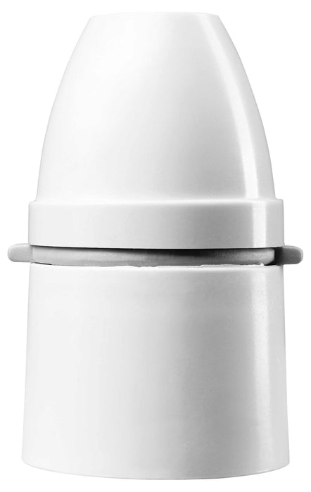 BG 725 White T2 Rated Lampholder With ½ Inch 26 BSB Threaded Entry & Short Skirt