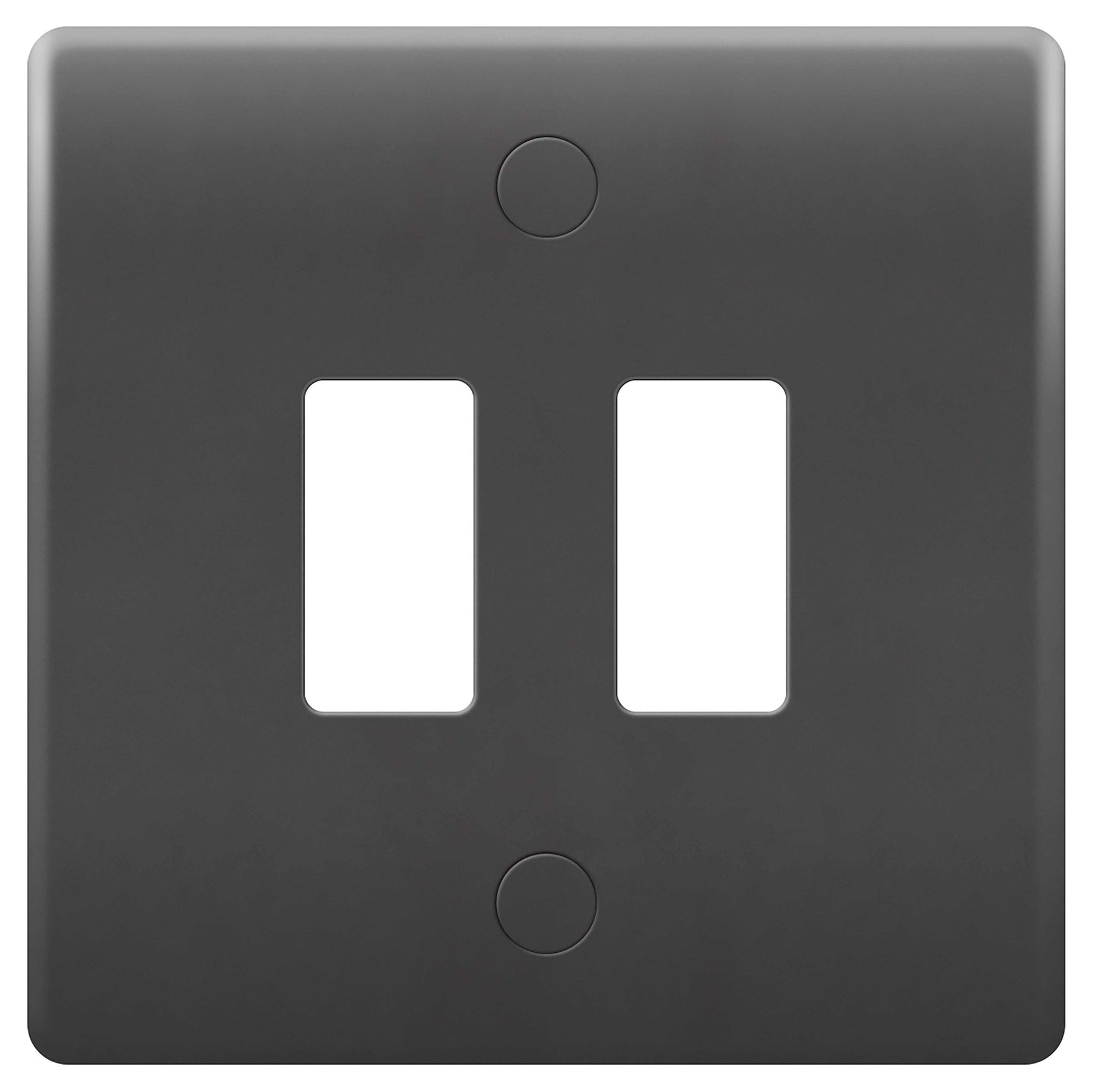 BG Nexus GPM2-01 PART M Grid 2 Gang Front Plate - Grey - BG - sparks-warehouse