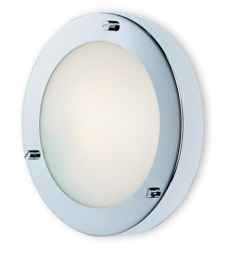 Firstlight 2745CH Rondo Wall / Flush Fitting - Chrome with Opal Glass