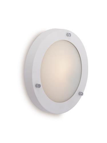 Firstlight 2745WH Rondo Wall / Flush Fitting - Matt White with Opal Glass