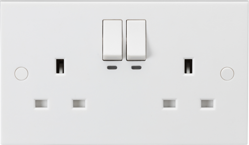Knightsbridge SN9KW 2 Gang Wi-Fi Smart Switched Socket - White