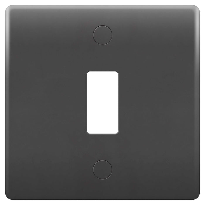 BG Nexus GPM1-01 PART M Grid 1 Gang Front Plate - Grey - BG - sparks-warehouse
