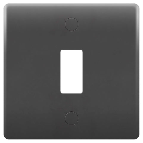 BG Nexus GPM1-01 PART M Grid 1 Gang Front Plate - Grey