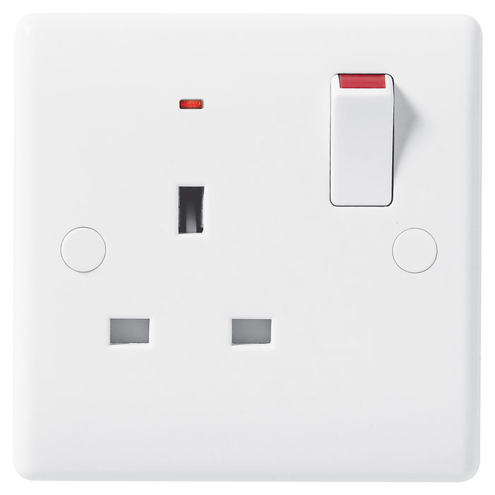 BG Nexus 825  13A 1 Gang Switched Socket With Power Indicator - BG - sparks-warehouse