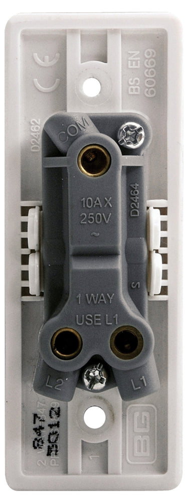 BG Nexus 847 10AX 1 Gang 2 Way ARCHITRAVE Switch - BG - sparks-warehouse