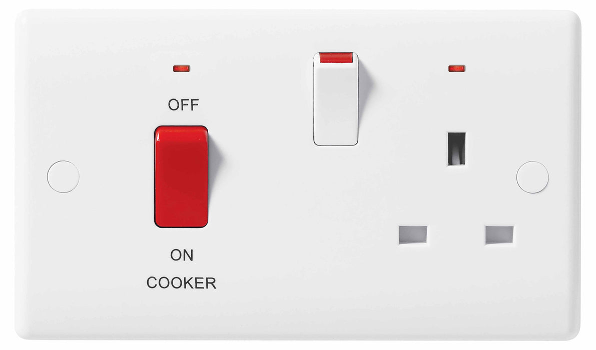 BG Nexus 870 45A Double Pole Cooker Control Unit 13A Switched Socket With Indicator - BG - sparks-warehouse