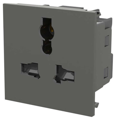 BG EMUNVG Universal Unswitched Socket Module Grey (50 x 50mm) - BG - sparks-warehouse