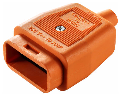 BG NC102SO Socket SIDE SIDE 2 PIN HEAVY DUTY IN LINE RUBBER Connector ORANGE