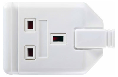 BG ELS13W 1 Gang HEAVY DUTY TRAILING Socket With Indicator White
