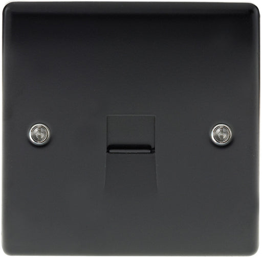 BG NMBBTS1 Matt Black 1 Gang Telephone Slave Socket - BG - Sparks Warehouse