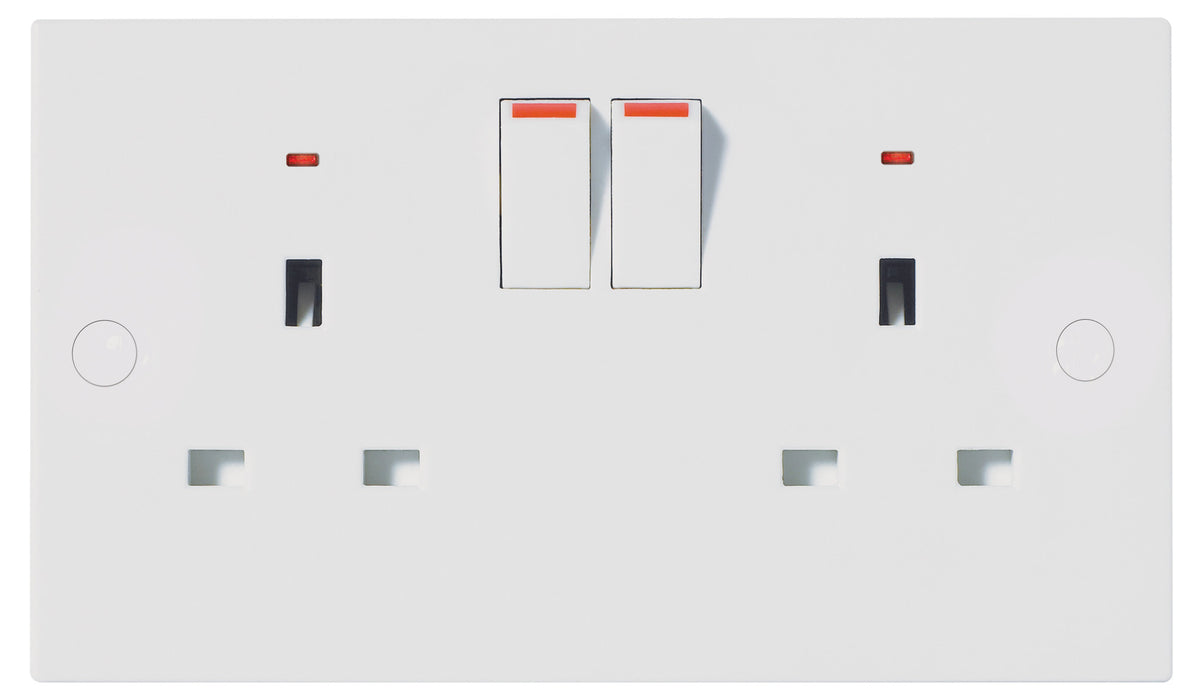BG Nexus 926 13A 2 Gang Switched Socket POWER - BG - Sparks Warehouse