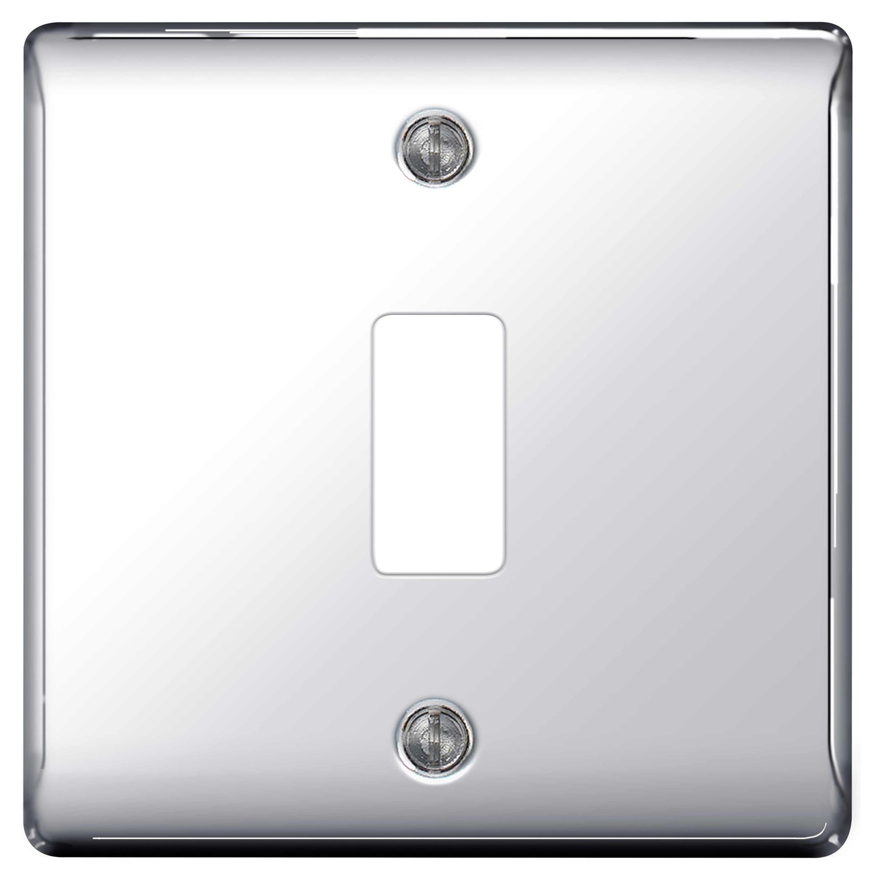 BG Nexus GNPC1 Grid Chrome 1 Gang Front Plate - BG - sparks-warehouse