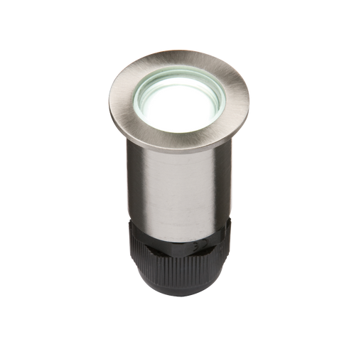 Knightsbridge 4IPW Stainless Steel LED 36mm White Decking Light