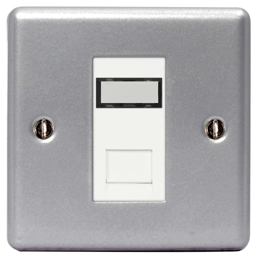 BG MC5RJ451 Metal Clad RJ45 Data Outlet Socket 1G, With IDC Window