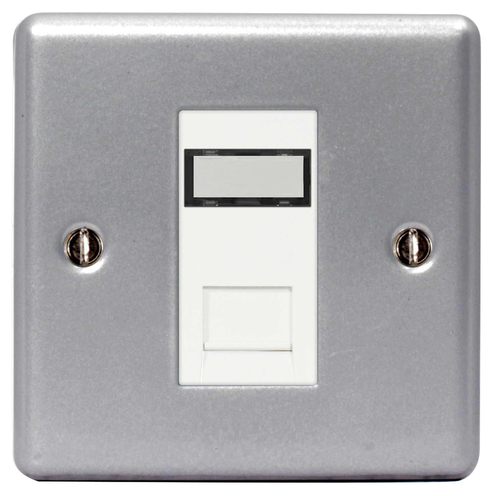 BG MC5RJ451 Metal Clad RJ45 Data Outlet Socket 1G, With IDC Window - BG - sparks-warehouse