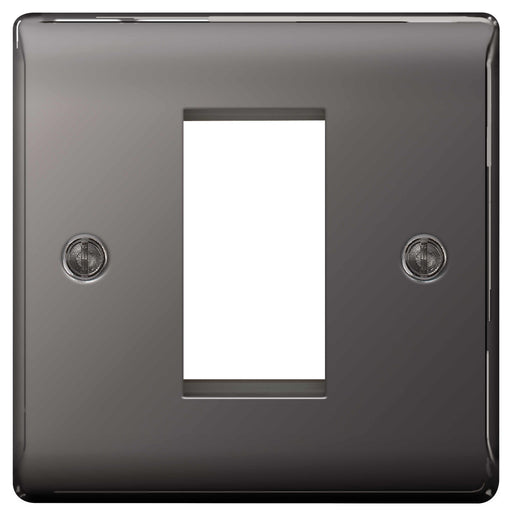 BG Nexus NBNEMS1 Black Nickel 1 Module  Front Plate (25 x 50mm) - BG - sparks-warehouse