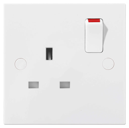 BG Nexus 921DP 13A 1 Gang Double Pole Switched Socket - BG - sparks-warehouse