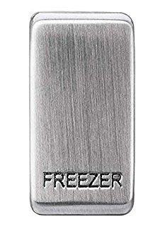 BG Nexus GRFZBS Grid Rocker Labelled  *FREEZER* Brushed Steel