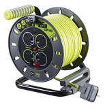 BG Masterplug OMU25134SL-PX - Pro XT 4 Gang Medium Open Cable Reel with Switch and LED 25m
