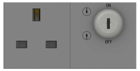 BG EMKYSWSG Key Control Power Switched Socket Grey (100 X 50)