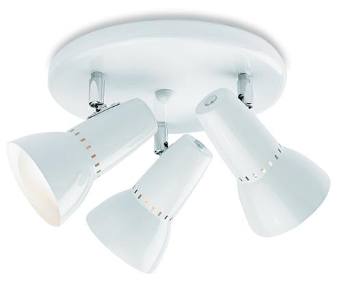 Firstlight 5523WH Lynx 100 3 Light Flush - White