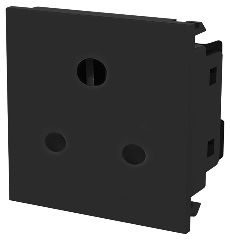 BG EM5ASB 5A Round Pin Unswitched Socket Module Black - BG - sparks-warehouse