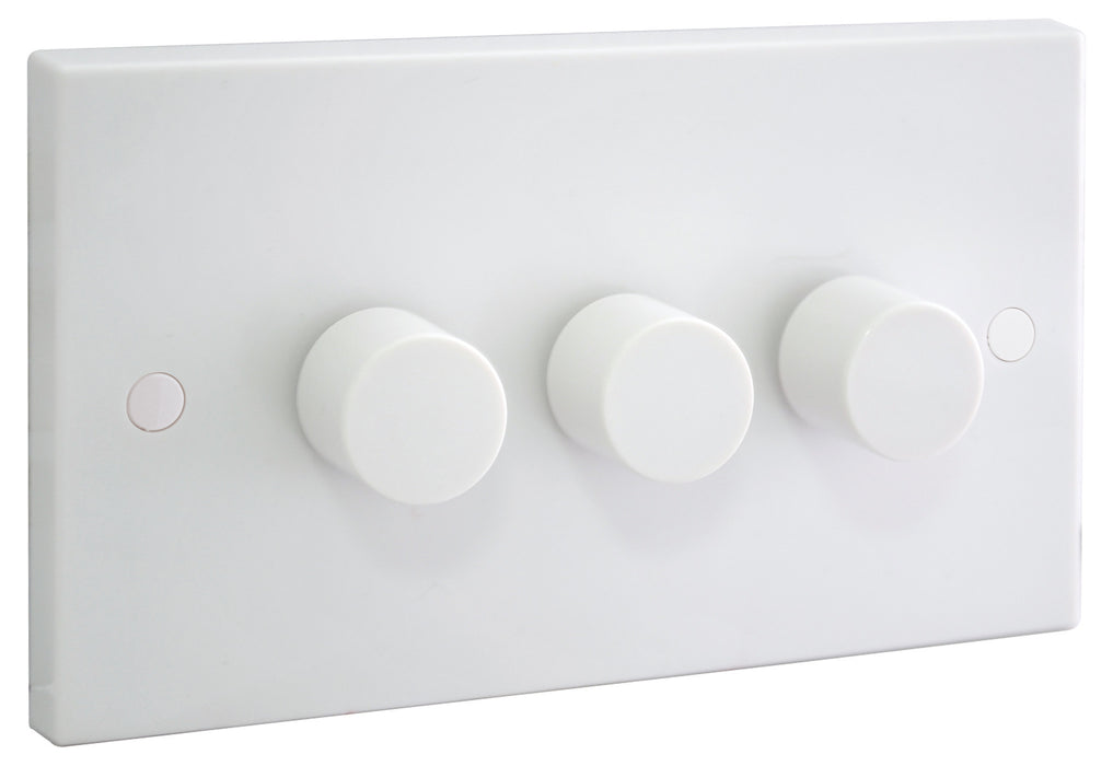 BG 983P 400W 3 Gang 1 Way Push Dimmer
