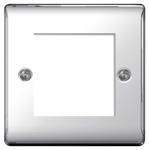 BG Nexus NPCEMS2 Polished Chrome 2 Module  Front Plate (50 X 50mm) - BG - sparks-warehouse