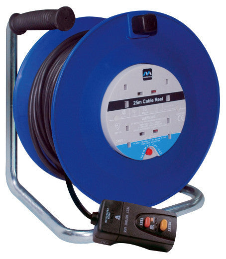 BG LDCC2513/4BLRCD 13A 25M 4 Gang Cable Extension Reel With RCD - BG - Sparks Warehouse