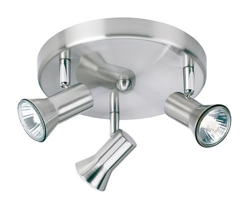 Firstlight 6093BS Magnum 3 Light Flush - Brushed Steel - Firstlight - sparks-warehouse