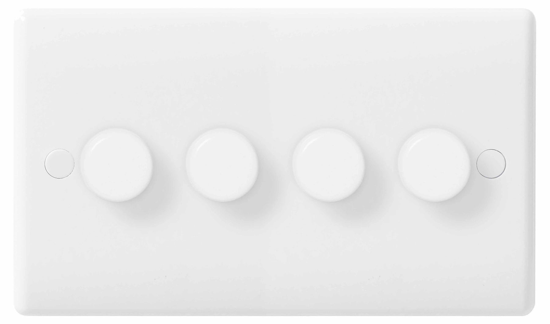 BG Nexus 884P 400W White 4 Gang 2 Way Push Dimmer Switch