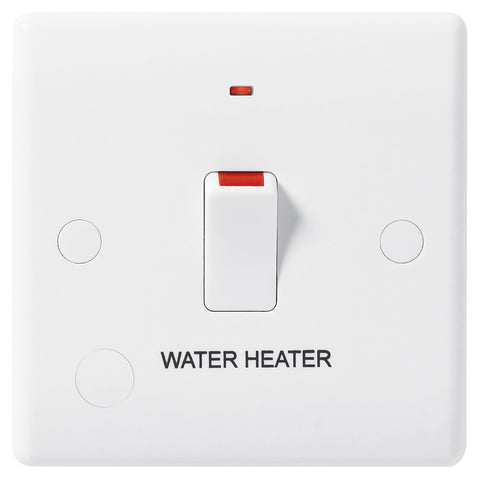 BG Nexus 833WH 20A Double Pole Switched With Indicator FLEX Outlet Labelled  *WATER HEATER* DEEP