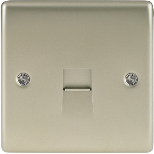 BG NPRBTM1 Pearl Nickel 1 Gang Telephone Master Socket - BG - Sparks Warehouse
