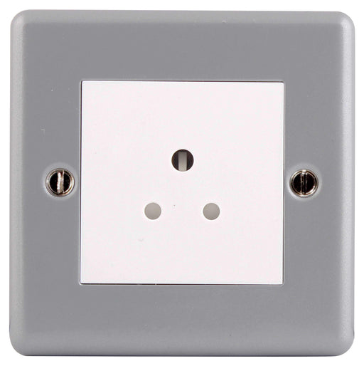 BG MC528 METAL CLAD 2A 1 Gang Unswitched Socket - BG - Sparks Warehouse
