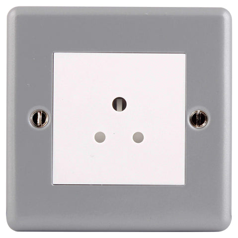 BG MC528 METAL CLAD 2A 1 Gang Unswitched Socket