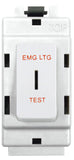BG Nexus G12EL Grid 20AX 2 Way Single Pole Secret Key Module Labelled  *EMG LTG TEST* White