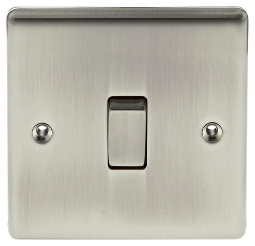 BG Nexus NBI13 Metal Brushed Iridium Intermediate Light Switch Plate 10 Amp - BG - Sparks Warehouse