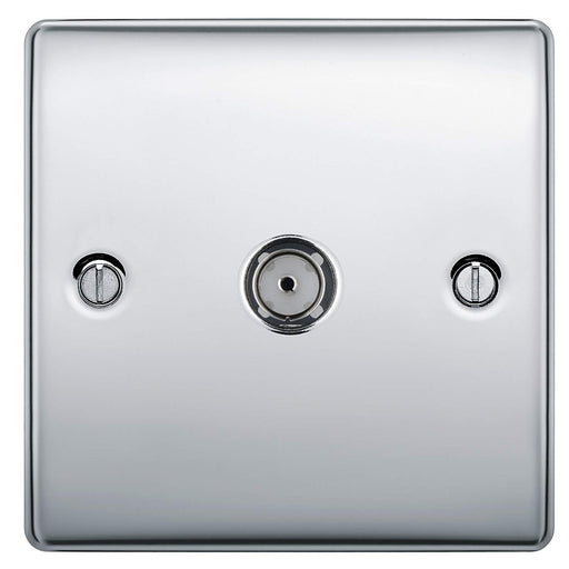 BG Nexus NPC60 Polished Chrome 1 Gang Co-Axial Socket - BG - sparks-warehouse