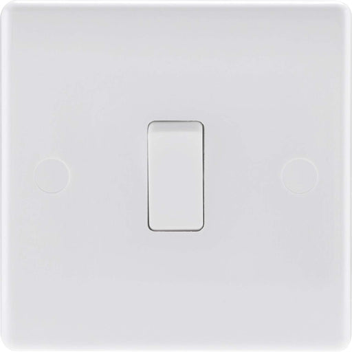 BG Nexus 812 Single 1 Gang 10A Moulded Plate Switch 2 Way - White - BG - sparks-warehouse