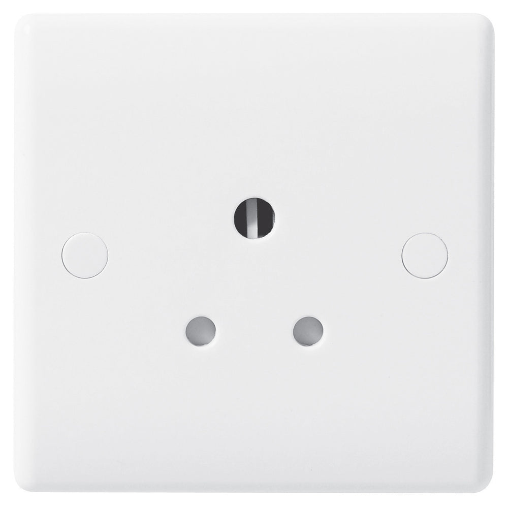 BG Nexus 829 5A 1 Gang Unswitched Round Pin Socket - BG - sparks-warehouse