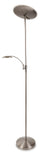 Firstlight 7659BS Horizon Brushed Steel LED Mother and Child Floor Lamp