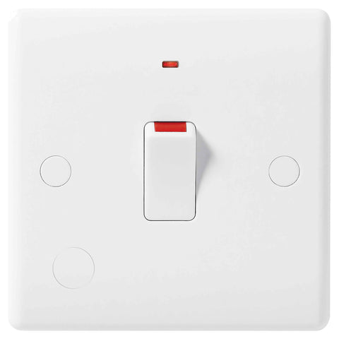 BG Nexus 833 20A Double Pole Switch FLEX Outlet With Indicator DEEP