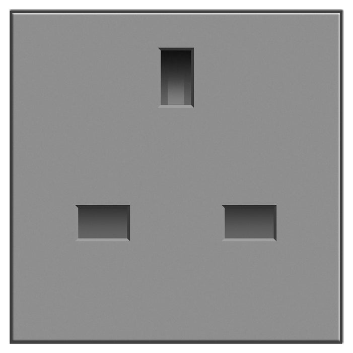 BG EMUKSG 13A Socket Unswitched Grey (50 X 50) - BG - sparks-warehouse