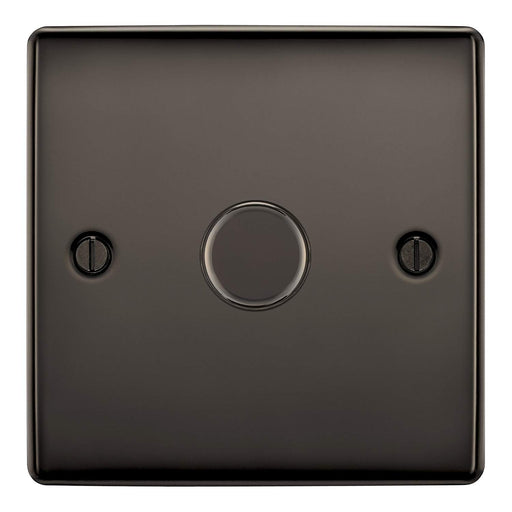 BG Nexus NBN81P Black Nickel 400W 1 Gang 2 Way Push Dimmer - BG - sparks-warehouse