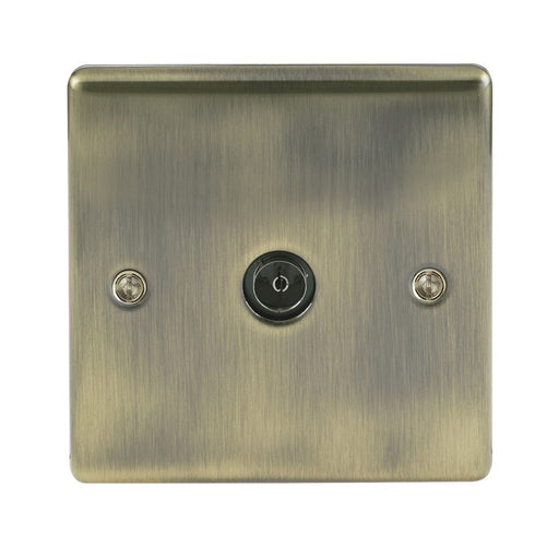BG Nexus NAB60 Metal Antique Brass Single 1 Gang Co Axial (TV) Outlet - BG - Sparks Warehouse