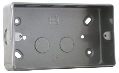 BG MC502  METAL CLAD 2 Gang Surface Mounting BOX