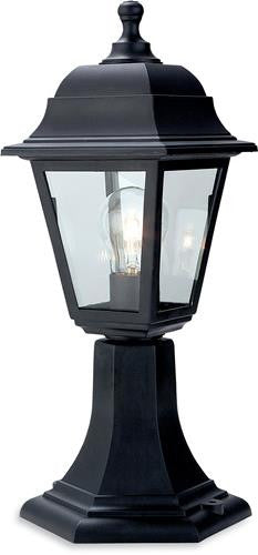 Firstlight 8347BK Oslo Lantern - Pillar - Black Resin - Firstlight - sparks-warehouse