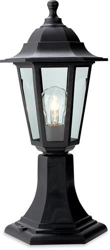 Firstlight 8350BK Malmo Lantern - Pillar - Black Resin - Firstlight - sparks-warehouse
