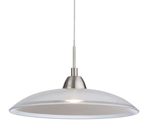 Firstlight 8376BS Nassau LED Pendant - Brushed Steel with Glass - Firstlight - sparks-warehouse