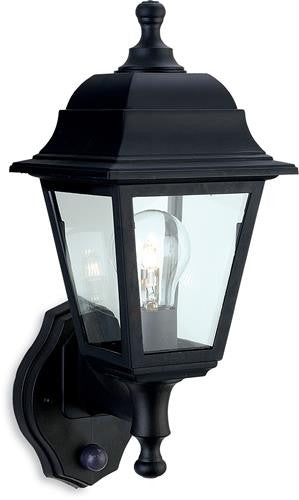 Firstlight 8400BK Oslo Lantern - Uplight with PIR - Black Resin - Firstlight - sparks-warehouse